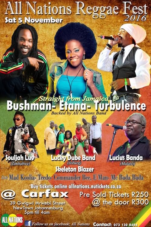 All Nations Reggae Fest 2016 - Johannesburg