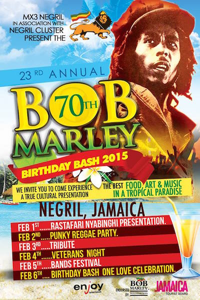 Bob Marley Birthday Bash 2015