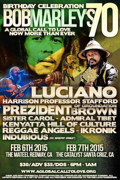 Bob Marley's 70 Birthday Celebration in Redway 2015