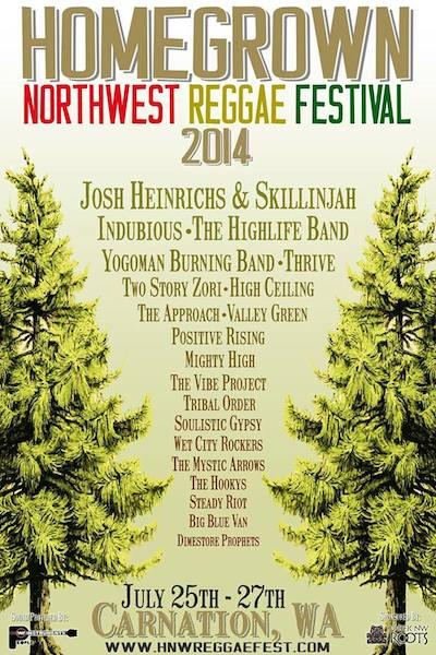 Homegrown Northwest Reggae Festival 2014