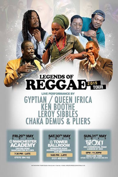 Legends Of Reggae 2015 - Manchester