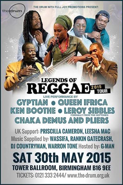 Legends Of Reggae 2015 - Birmingham