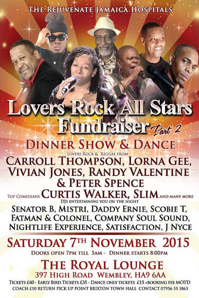 Lovers Rock All Stars Fundraiser 2015