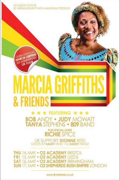 CANCELLED: Marcia Griffiths & Friends 2015 - Bristol