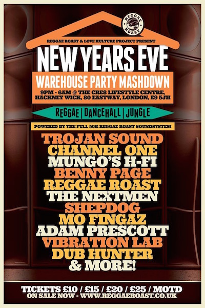 New Years Eve Warehouse Party Mashdown 2014