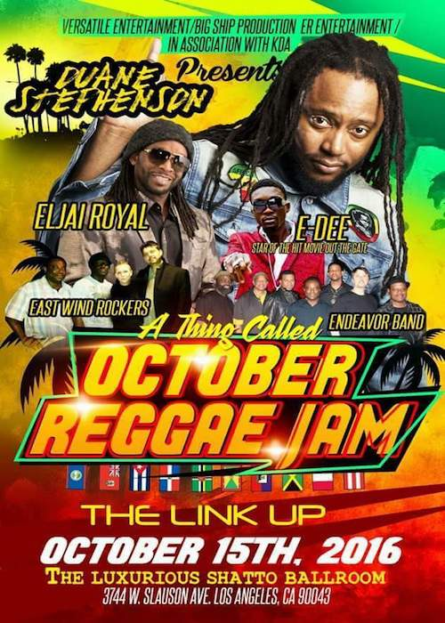 October Reggae Jam 2016