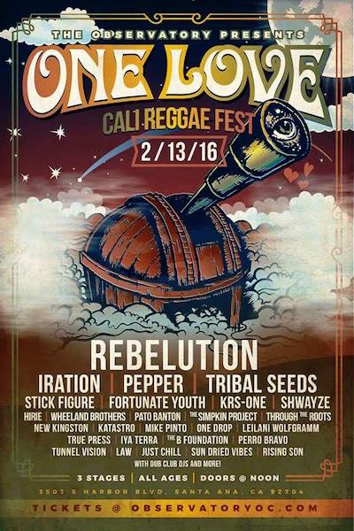 One Love Cali Reggae Fest 2016