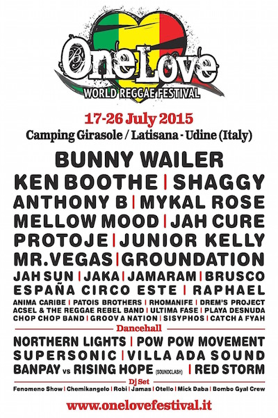One Love Reggae Festival 2015
