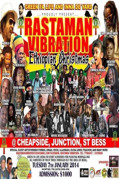Rastaman Vibration 2014