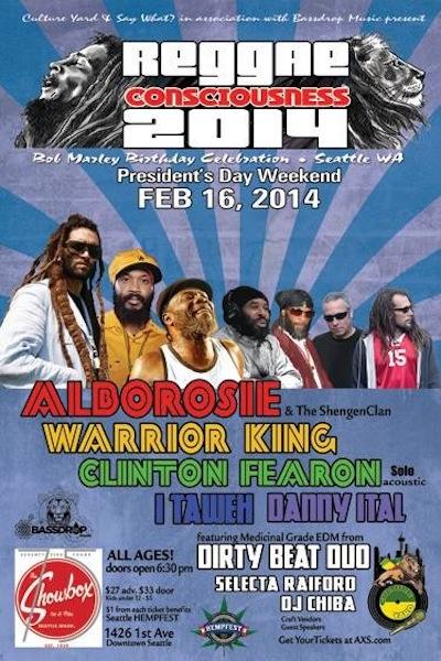 Reggae Consciousness 2014