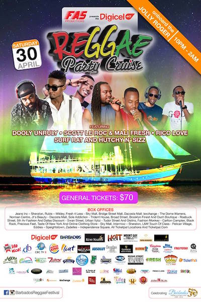 Barbados Reggae Party Cruise 2016