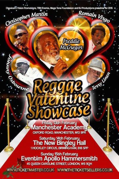 Reggae Valentine`s Showcase 2015 in London
