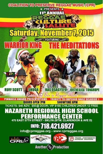 Reggae Culture Salute 2015