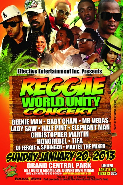 Reggae World Unity Concert 2013
