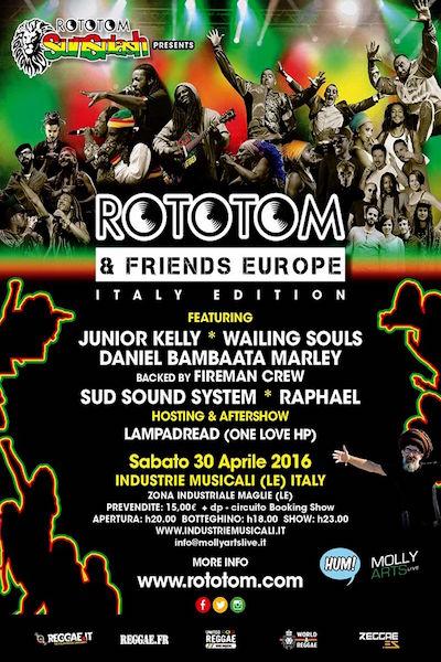 Rototom & Friends - Maglie 2016