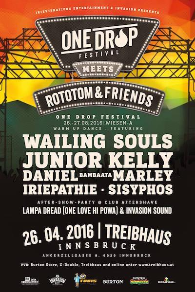 One Drop Festival meets Rototom & Friends - Innsbruck 2016