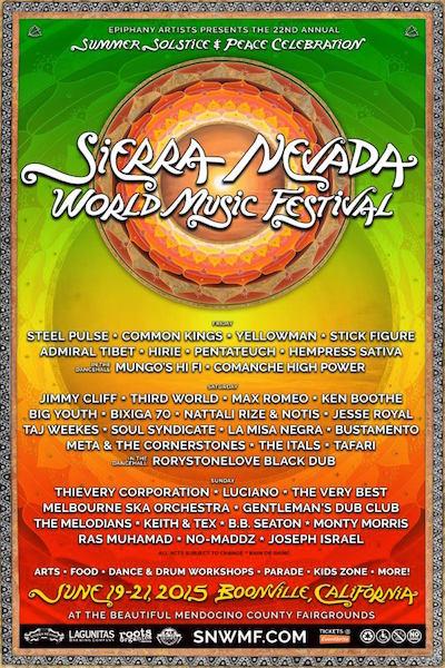 Sierra Nevada World Music Festival 2015