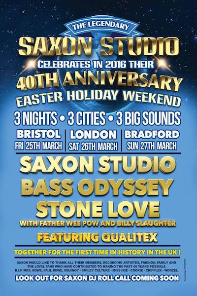Saxon Studio 40th Anniversary - Bristol