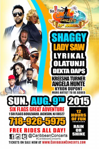 Six Flags Caribbean Concert 2015