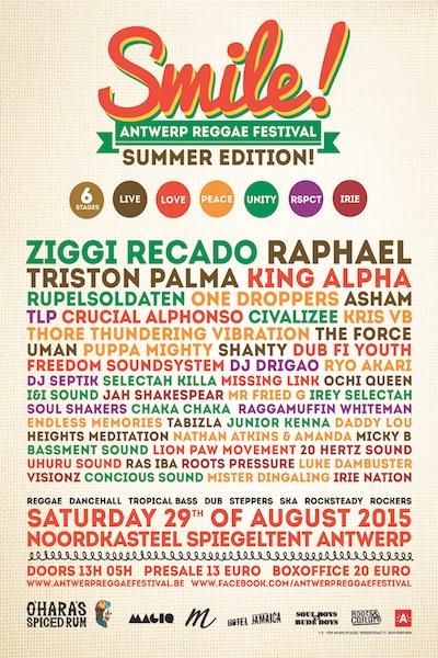 Smile - Antwerp Reggae Festival 2015
