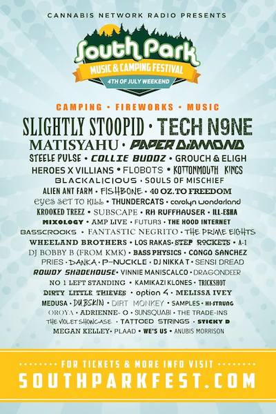 South Park Music & Camping Festival 2014