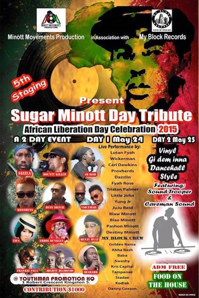 Sugar Minott Day Tribute 2015
