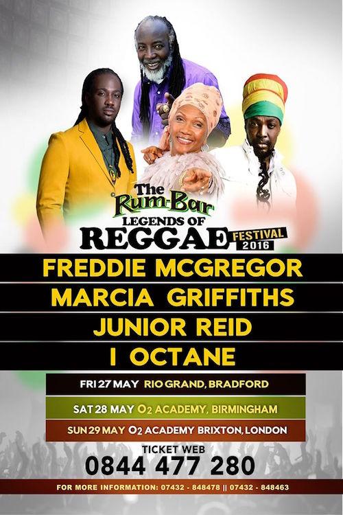 Rum-Bar Legends Of Reggae - Birmingham 2016