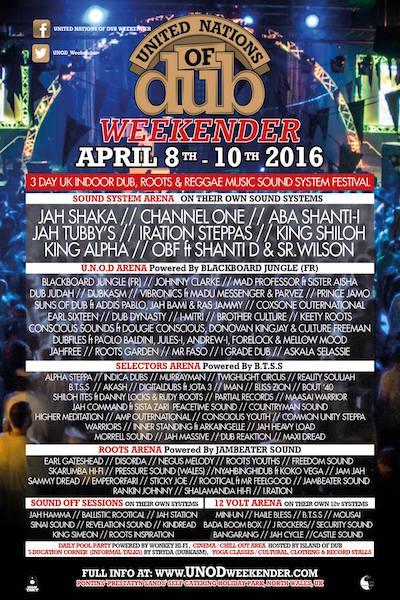 United Nations Of Dub Weekender 2016