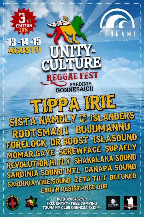 Unity & Culture Reggae Festival 2016
