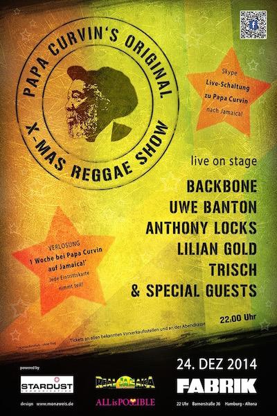 Jamaica Papa Curvin's Xmas Reggae Show 2014