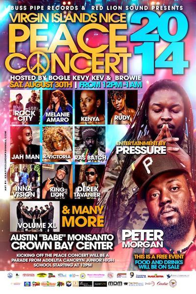Virgin Island Nice Peace Concert 2014