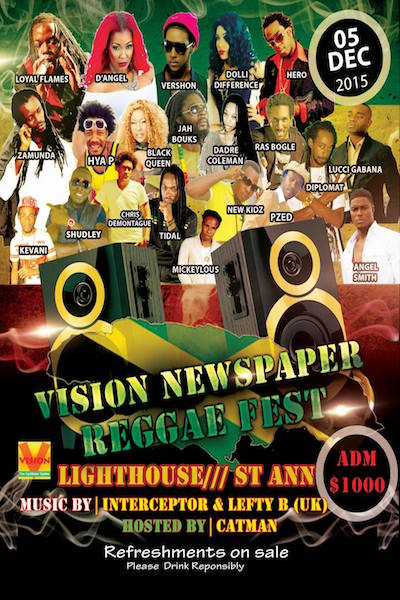 Vision Newspaper Reggae Fest 2015