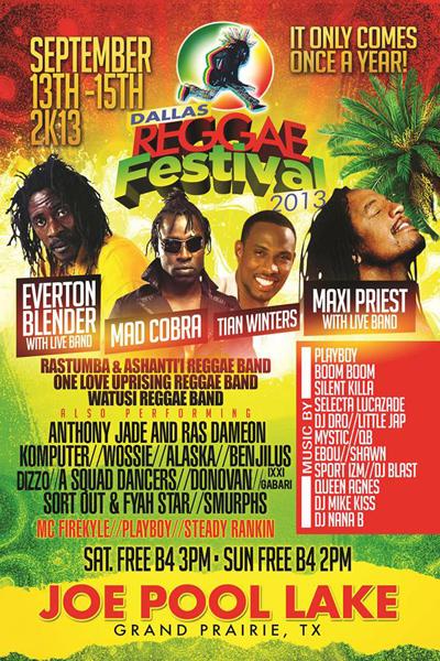 Dallas Reggae Festival 2013