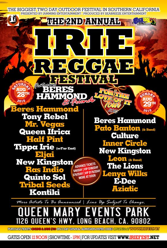 Irie Reggae Festival