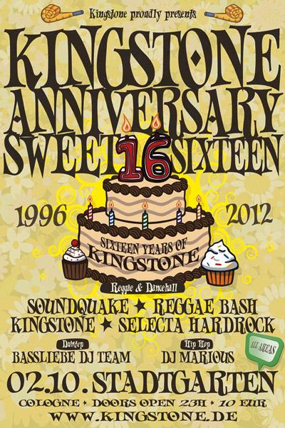 Kingstone Anniversary Sweet Sixteen 2012