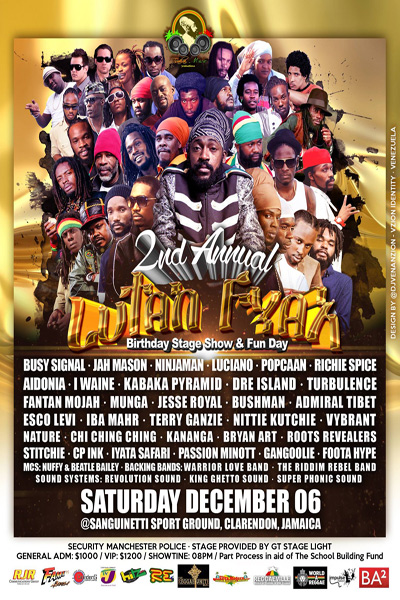 Lutan Fyah Birthday Bash 2014