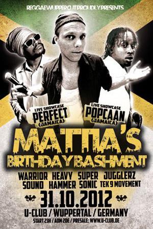 Mattia's Birthday Bashment 2012