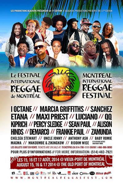 Montreal Reggae Festival 2014