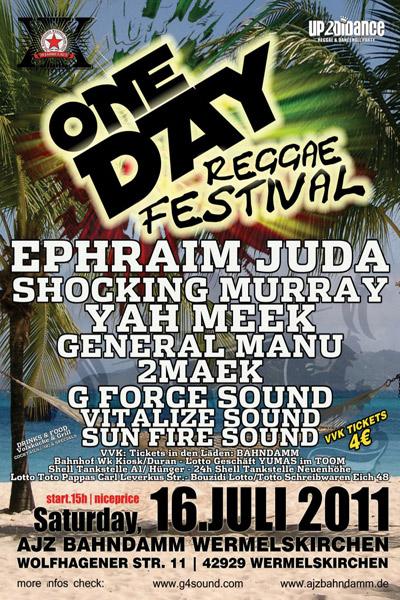 One Day Reggae Festival 2011