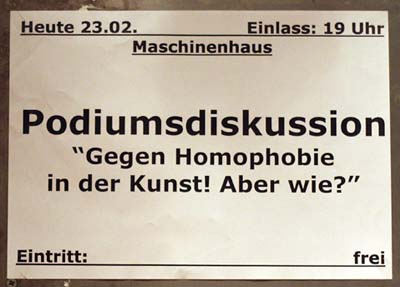 Gegen Homophobie in der Kunst! Aber wie?