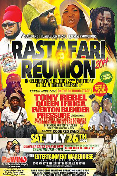 Rastafari Reunion 2014