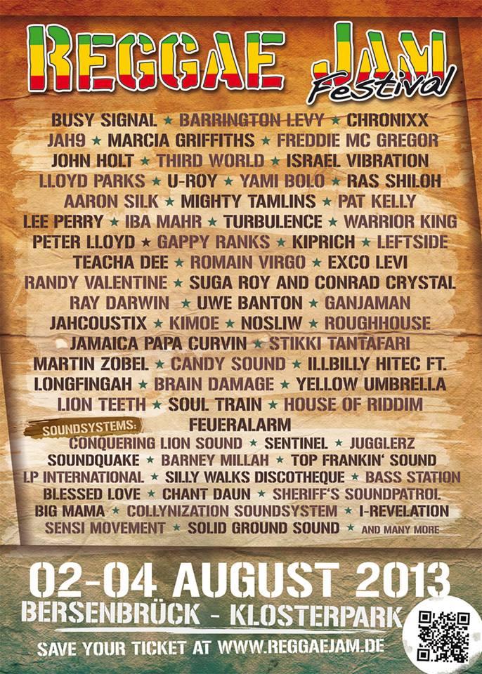 Reggae Jam 2013