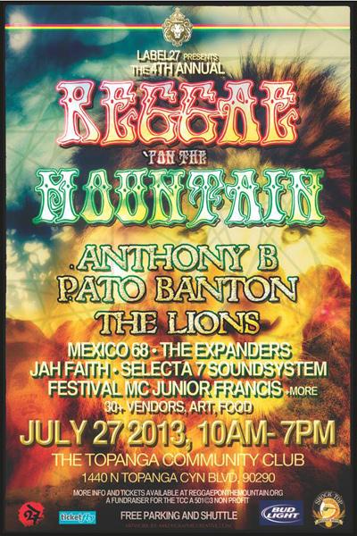 Reggae Pon The Mountain 2013
