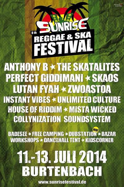 Sunrise Reggae & Ska Festival 2014
