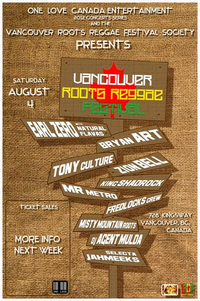 Vancouver Roots Reggae Festival 2012