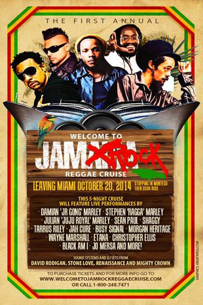 Welcome To Jamrock Reggae Cruise 2014