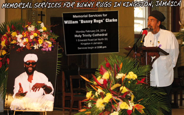 Memorial Services For Bunny Rugs In Kingston, Jamaica 2/24/2014