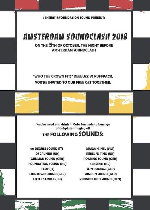 Amsterdam Soundclash Pre-Party 2018