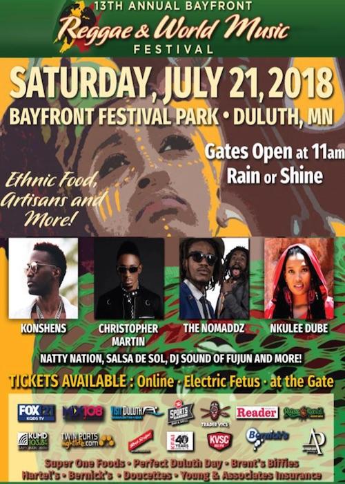 Bayfront Reggae & World Music Festival 2018