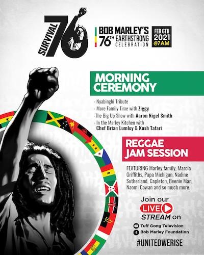 Bob Marley's 76th Earthstrong Celebration 2021